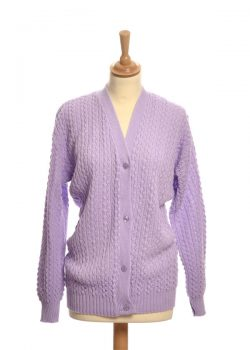 LILAC CABLE CARDIGAN